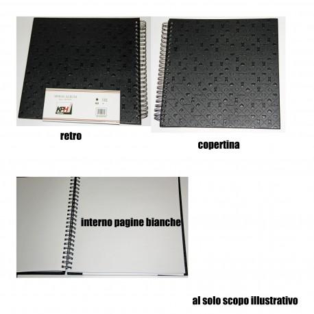 Album Portafoto 20 Fogli Copertina Ecopelle 31,5x33cm spirale