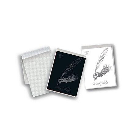 Pigna Mont Blanc Block notes a6 quadretti 5mm,10x15cm, 70fogli