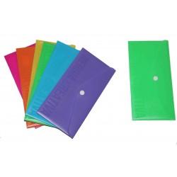 BUSTE con BOTTONE formato lettera colori assortiti