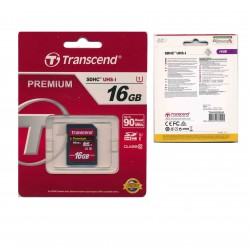 TRANSCEND SD PREMIUM SDHC UHS-I 16GB UP TO READ 90 MB/s