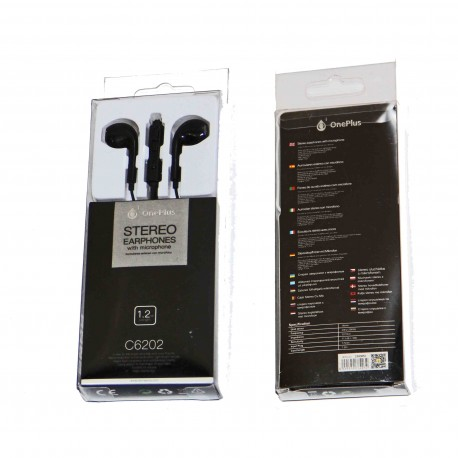 ONE PLUS AURICOLARE STEREO EARPHONES WITH MICROPHONE