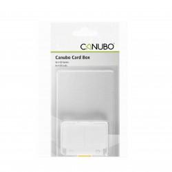 Canubo SD Card Box trasparente per 4 schede